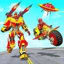 Real Flying Robot Bike : Robot Shooting Games