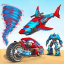 Shark Robot Car Game - Tornado Robot Bike Games 3d