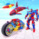Whale Robot Transform : Flying Robot Games