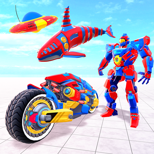 Whale Robot Car Games : Flying Car Robot Games