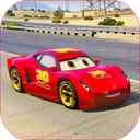 Splashy Superhero Vertigo racing : lightning car