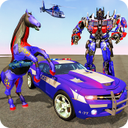 Multi Robot Transforming : Wild Horse Police Car