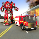 Fire Truck Robot Transform Firefighter Robot Games