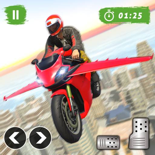 Flying Bike Stunt Racing- Impossible Stunt Games