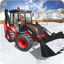 Snow Rescue Excavator - Survival Mission