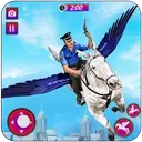 Flying Horse Police Chase : US Police Horse Games
