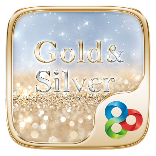 Gold & Silver GOLauncher Theme