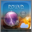 Round GO Weather Widget Theme