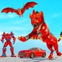 Lion Robot Car Game 2021 – Flying Bat Robot Games