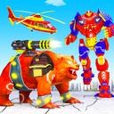 Bear Robot Car Transform: Flying Car Robot War