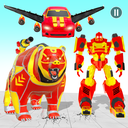 Bear Robot Car Transform: Flying Car Robot Games