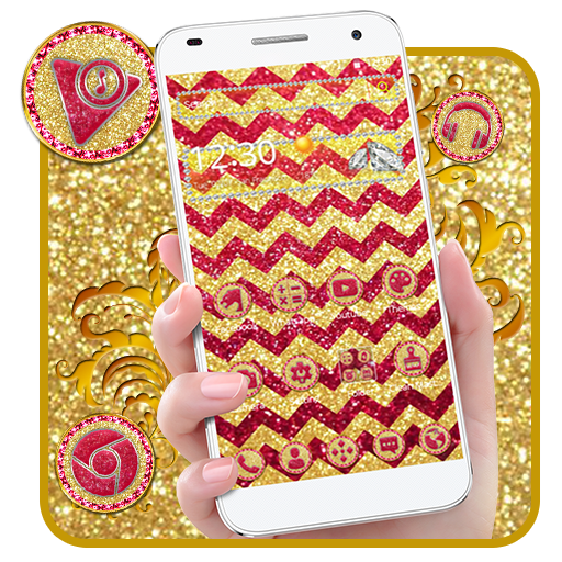 Gold Muti Wave Giltter Theme
