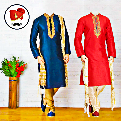 Men Sherwani Suit Photo Editor