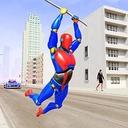 Grand Flying Robot Rope Hero - Crime City Gangster