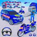 Grand Police Prado Car Transport Truck Games