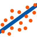 خطی ساز Regression Trend line منحنی