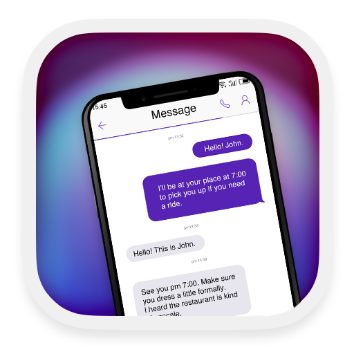 Phone X Purple - message theme