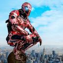 Super Crime Steel War Hero Iron Flying Mech Robot
