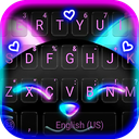 Black Neon Kitty Keyboard Theme