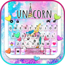 Cute Cartoon Unicorn Keyboard Theme