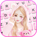 Cute Wink Girl Keyboard Theme