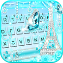 Diamond Paris Butterfly Keyboard Theme