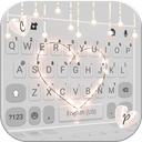 Fairy Lights Heart Keyboard Background