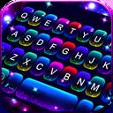 Twinkle Neon Keyboard Theme
