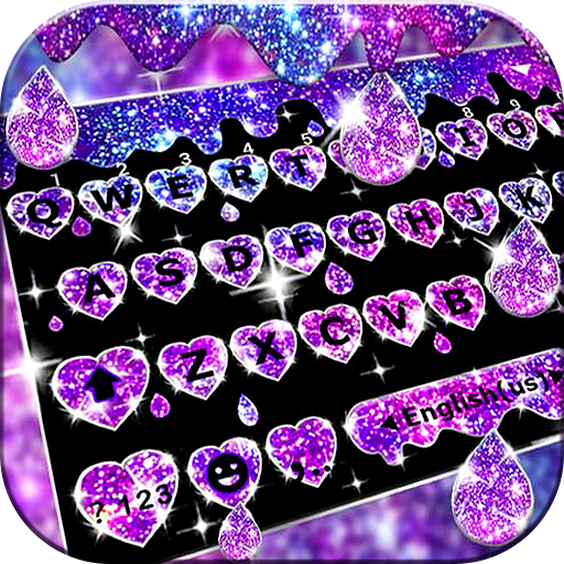 Galaxy Liquid Droplet Keyboard Theme