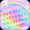 Galaxy Rainbow Keyboard Background