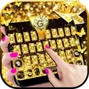 Gold Diamond Keyboard Theme