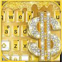 Golden Dollar Drops Keyboard Theme