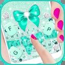 Green Diamond Bow Keyboard Theme