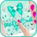 Green Diamond Bow Keyboard Theme