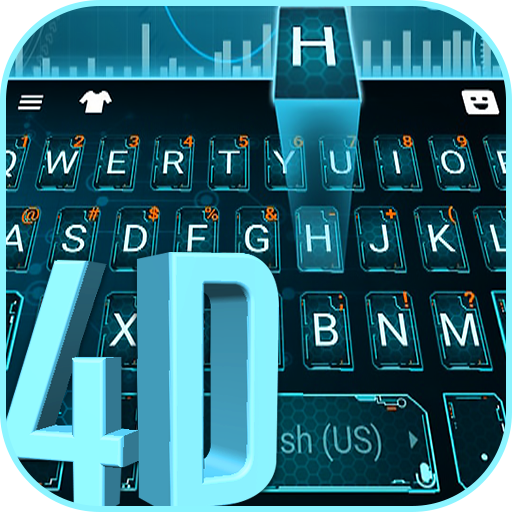 Hologram 4d Keyboard Theme