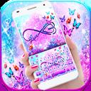 Infinity Butterfly Love Keyboard Theme