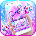 Infinity Butterfly Love Keyboard Theme
