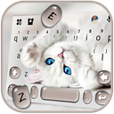 Innocent Cute Cat Keyboard Theme