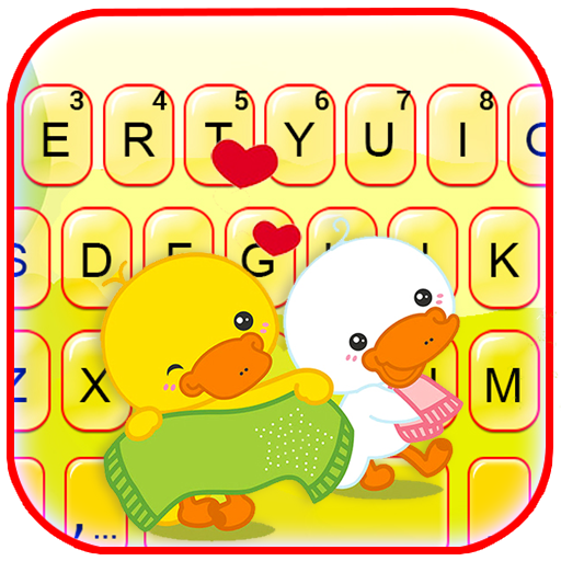Lovely Duck Couple Keyboard Theme