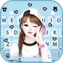 Lovely Sweet Girl Wallpapers Keyboard Background