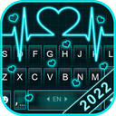 Neon Heart Love Keyboard Theme