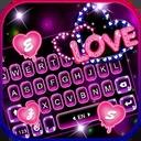 Neon Love Keyboard Theme