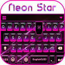 Neon Star Kika Keyboard Theme