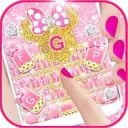 Pink Bow Minnies Keyboard theme