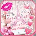 Pink Diamond Paris Keyboard Theme