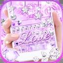 Purple Diamond Love Keyboard Theme