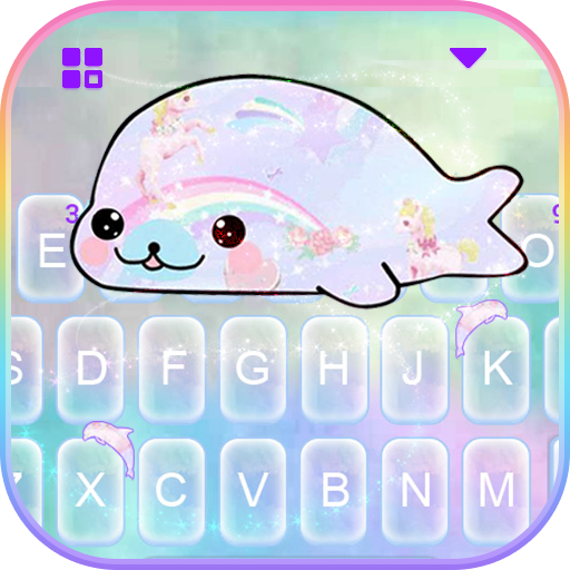 Rainbow Seal Unicorn Keyboard Theme