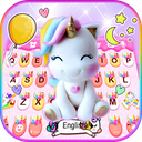 Rainbow Unicorn Smile Keyboard Theme
