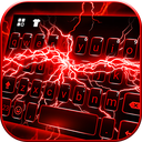 Red Lightning Keyboard Theme