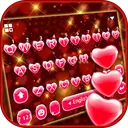Red Heart Keyboard Theme